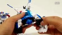 白色变形总动员 百变玩具汽车机器人