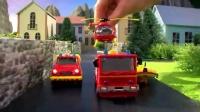 [Ryan妈咪美国代购] 消防员山姆消防站合金消防车套装