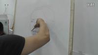 北京画室,博文高端美术,素描头像,正面男中年  片段一