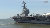Gerald R. Ford (CVN 78) Turns 180 Degrees in Time Lapse Video
