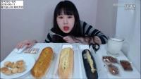 快进版-韩国吃播弗朗西斯卡吃炖排骨粉条餐后甜点面包