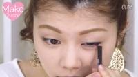 【メイク】夏メイク◆100均カラーライナー×エチュードハウスのティント!ブルー×オレンジ 池田真子 Summer Makeup Tutorial