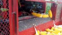 赵县13年博远4YZB-3玉米收割机扒皮视频
