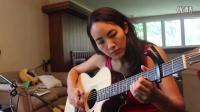 卡内基梅隆大学中美混血美女学霸吉他经典歌曲演绎
