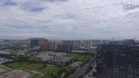 暴雨江苏南京江宁牡丹亭,凤凰广场。双龙大道直到下午排水还没有恢复!美女啊