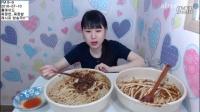 快进版-韩国吃播弗朗西斯卡吃炸酱面炸酱饭餐后法式吐司糕点冰淇淋