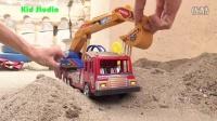 飞燕传媒 自卸车翻斗车 玩具车挖掘机 玩具总动员 赛车总动员 儿童玩具试玩测评 529