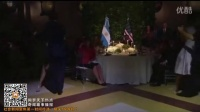 奥巴马夫妇出席阿根廷国宴 与美女帅哥跳探戈 160324_标清