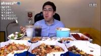 韩国吃播吃出个未来大胃王MBRO吃冰激凌鸡腿披萨水果沙拉_高清