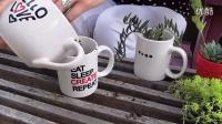 用咖啡杯种植多肉植物组合DIY【醉花网】_超清视频