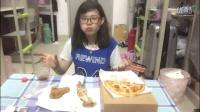8袖子吃播我能说我胖了吗5555吞拿鱼披萨德克士手枪鸡腿脆皮炸鸡可乐袖子美食家中国吃播国内韩国分享