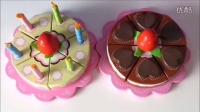 玩具巧克力蛋糕 木制玩具  玩具食品 Wooden toy velcro cutting cakes for children chocolate cake
