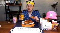 韩国吃播大胃MBRO吃面包吐司