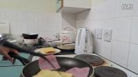 留学日常自制早餐--鸡蛋火腿芝士吐司夏小七Ariel