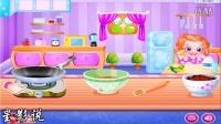187 妈妈制作迷你玉米肉饼-宝贝肚子饿不想喝牛奶-妈妈下厨房做饭做玉米饼-儿童日常有趣小游戏-亲子游戏星影说