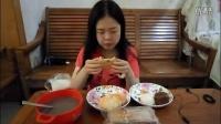 3吃播菠萝包手撕面包拉丝蛋糕红糖饼奶黄包枣泥蛋糕可可千层蛋糕酸奶八宝粥部分