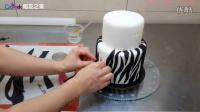 焙友之家丨蛋糕装饰斑马蛋糕翻糖