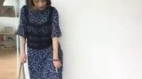 蕾丝两件套中长款雪纺连衣裙