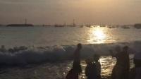 瑩三年级的库克海滩看日落
