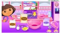 朵拉做彩色蛋糕!