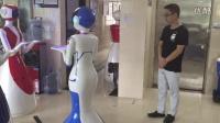 澳博机器人三代餐厅机器人服务员云端对话屏幕展示