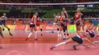[精彩瞬间]29比27中国女排半决赛拼下第三局