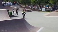 不要在滑板场玩小轮车保安没收玩家的BMX还现场给他上了一课