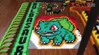 【游民星空】14000张多米诺骨牌拼成pokemon