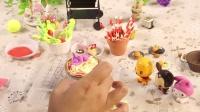 兔小卡星球     小卡手工课之米奇维尼大显身手做 草莓慕斯蛋挞巧克力樱桃蛋糕馋死人
