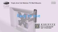 电视机挂架安装演示站是三维动画10@深圳产品安装动画