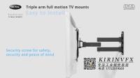 电视机挂架安装演示站是三维动画07@深圳产品安装动画