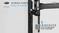 电视机挂架安装演示站是三维动画03@深圳产品安装动画