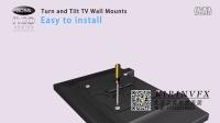 电视机挂架安装演示站是三维动画01@深圳产品安装动画