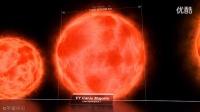 宇宙星体的尺寸对比