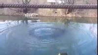 乌克兰军人拿炸药扔水里,结果就炸上来一条小鱼,大兵们都乐了