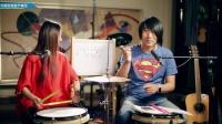 左轮架子鼓教学NO.25《城市猎人》不规则底鼓节奏型应用