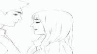 饭制漫画版#微微一笑很倾城# 雨中浪漫吻戏。我的天!!这