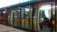 广州地铁8号线赤岗站往白云湖方向庞巴迪进离站