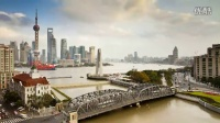 上海浦东繁华景象东方明珠河流车流行驶城市发展高清视频延时