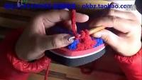 OK编织吧视频教程第10集  冰条线钩拖鞋的方法_标清