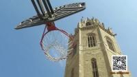蓝天娱乐快报 2016 9月 西班牙篮球队员61米高钟楼顶投篮进筐 160919
