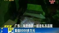 广东 海警查获一起走私冻品案160919在线大搜索
