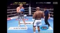 韩国巨人崔洪万VS黑人巨兽,裁判叫停后还补拳。最后都没力气了