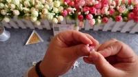 燕哥串珠工艺-串珠双花戒指(一面双花)