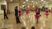 整齐的拉丁团体舞