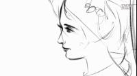 飞虎手绘之古典欧洲女子速写