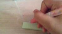 【呆萌猫猫】 日本彩色签字笔 红色