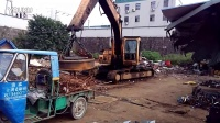 诸暨改装的电动挖掘机,抓钢机改装淄博金陵机械18605332935