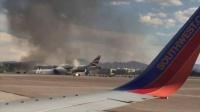 美国-拉斯维加斯英国航空公司波音777航班起飞时突发大火