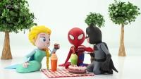 定格动画:小丑JOKER假扮蝙蝠侠,逮住了蜘蛛侠和爱莎公主